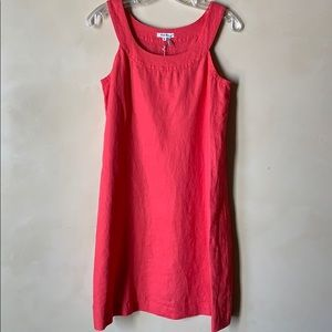 NWT Linen Coral Dress Size 4 (fits slightly baggy)